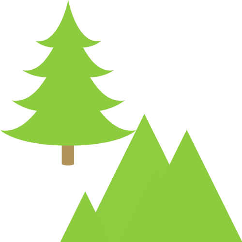 tree and mountain obstruction
